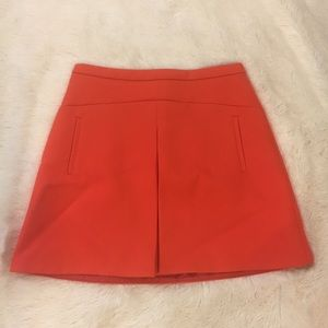 J. Crew Orange A-Line Mini Skirt
